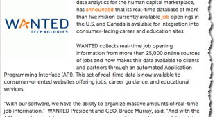 Wanted Analytics opens up its API to job boards