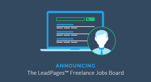 Leadpages Launches Freelance Jobs Board