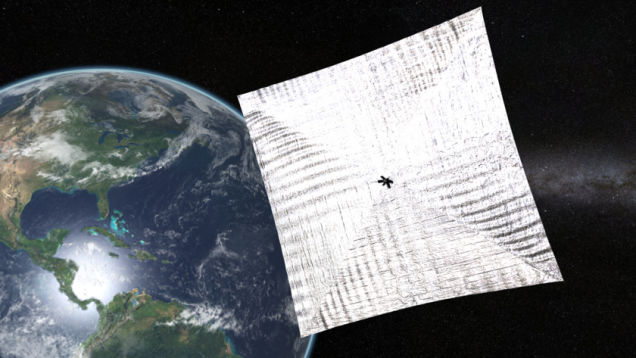 A Tiny Satellite With Enormous Solar Sails Is Orbiting Our Planet