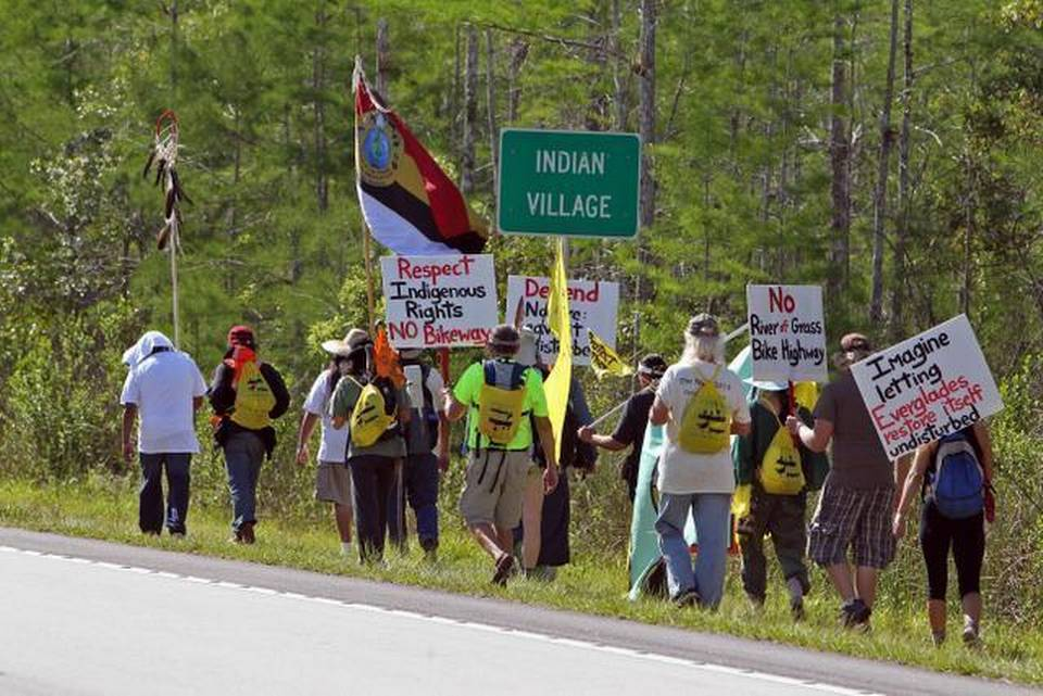 Bike trail across the Everglades draws protests