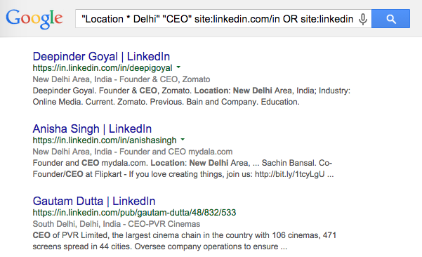 Find LinkedIn Profiles with Google Search