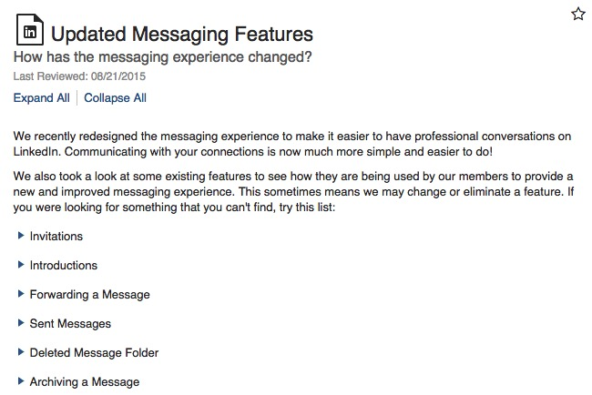 New LinkedIn Inbox: Changes To Messages And Invitations