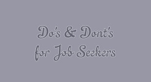 The Do's and Don'ts of Online Job Searching