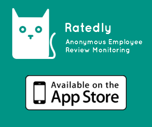 Ratedly App - Anonymous Employee Review Monitoring iPhone App