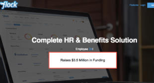 HRIS startup Flock Raises $3.5 Million, Hiring in SF