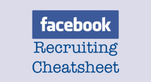Facebook Recruiting Cheatsheet Just Published