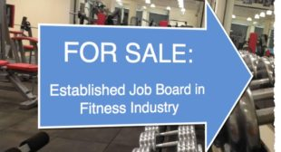For Sale: Fitness Industry Job Board