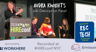 AUDIO: Audra Knight Moderates Job Description Panel at HIREconf