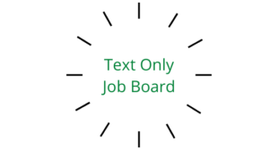 The Text Only Job Board