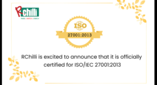 RChilli is Now ISO/IEC 27001:2013 Certified
